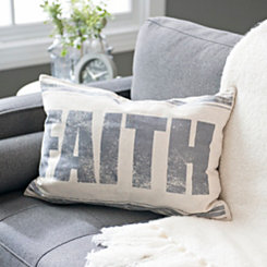 Feedsack Faith Pillow