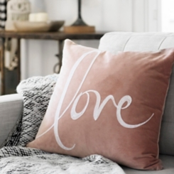 Blush Velvet Love Pillow