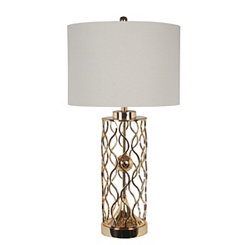 Zuro Gold Metal Table Lamp