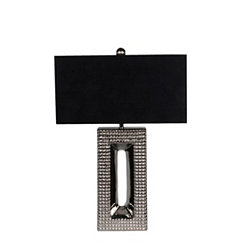 Chrome and Black Ceramic Table Lamp