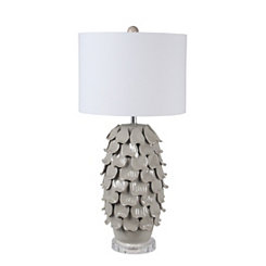 Gray Shell Ceramic Table Lamp