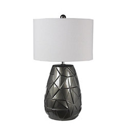 Metallic Gray Ceramic Table Lamp