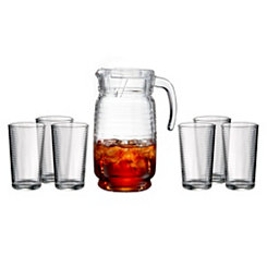 Uptown 7-pc. Glass and Pitcher Set