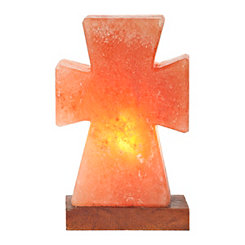 Himalayan Salt Cross Night Light