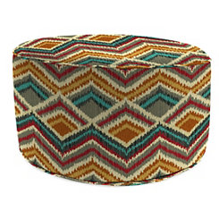 On the Rise Fiesta Round Outdoor Pouf
