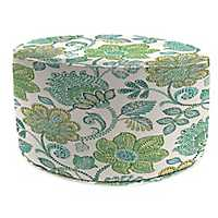 Busan Juniper Round Outdoor Pouf