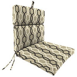 Cestina Tuxedo Outdoor Dining Chair Cushion