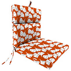 Ginko Orange Chaise Outdoor Lounge Cushion