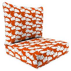 Ginko Orange 2-pc. Outdoor Chair Cushion Set
