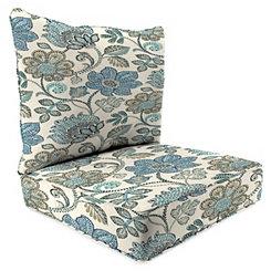 Busan Denim 2-pc. Outdoor Chair Cushion Set