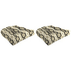 Tuxedo Outdoor 19 in. Seat Cushions, Set of 2