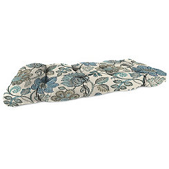 Busan Denim Wicker Loveseat Outdoor Cushion