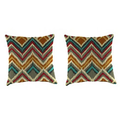 On the Rise Fiesta Outdoor Pillows, Set of 2