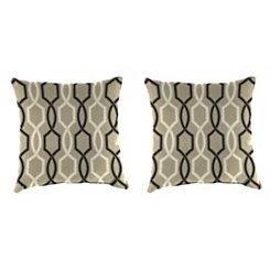 Cestina Tuxedo Outdoor Pillows, Set of 2