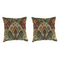Boho Passage Fiesta Outdoor Pillows, Set of 2