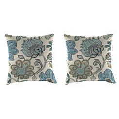 Busan Denim Outdoor Pillows, Set of 2