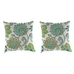 Busan Juniper Outdoor Pillows, Set of 2