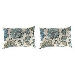 Busan Denim Outdoor Accent Pillows, Set of 2