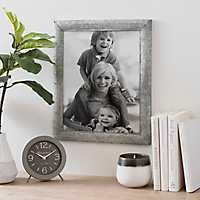 Galvanized Metal Picture Frame, 11x14