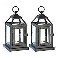 Black Miniature Lanterns, Set of 2