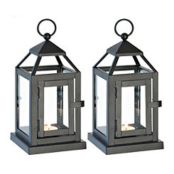 Black Miniature Lanterns, Set of 2