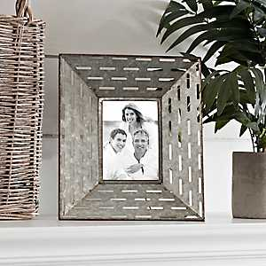 Galvanized Punch Picture Frame, 5x7