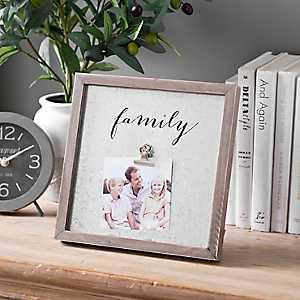 Galvanized Metal Family Clip Frame, 4x6