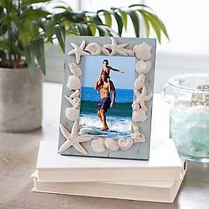 Resin Coastal Seashells Picture Frame, 4x6