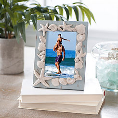 Resin Coastal Seashells Picture Frame, 4x6