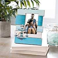 Multicolor Coastal Metal Anchor Picture Frame, 4x6