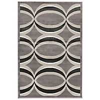 Gray and Bronze Veil Area Rug, 5x8