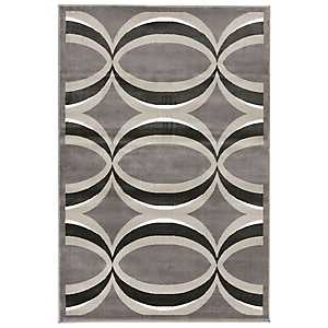 Gray and Bronze Veil Area Rug, 8x10