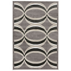 Gray and Bronze Veil Area Rug, 8x10