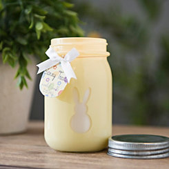 Yellow Bunny Treats Mason Jar Candle