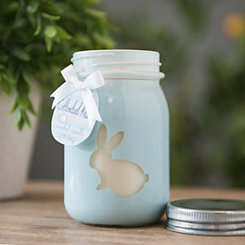 Blue Cottontail Kisses Mason Jar Candle