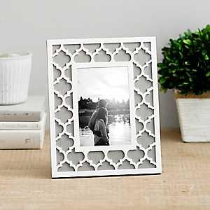 White Lattice Picture Frame, 4x6