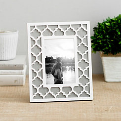 White Lattice Picture Frame, 4x6