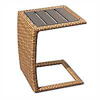 Laguna Caramel Brown Wicker Outdoor C-Table