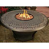 Prescott Cast Top Gas Fire Pit