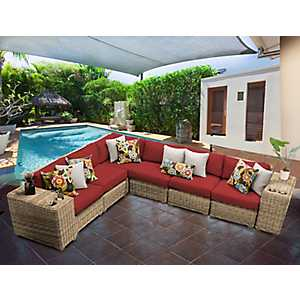 Fiji Terracotta Wicker 8-pc. Outdoor Furniture Set