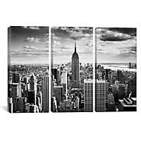 Downtown NYC Triptych Canvas Art Prints, Set of 3