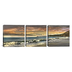 Warm Sunset Triptych Canvas Art Prints, Set of 3