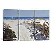 Beach Path Triptych Canvas Art Prints, Set of 3