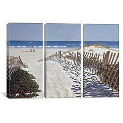 Beach Path Triptych Canvas Art Prints, Set of 3