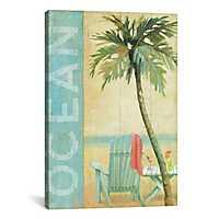 Ocean Beach Canvas Art Print