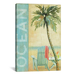 Ocean Beach Canvas Art Print