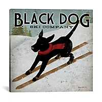Black Dog Ski Co. Canvas Art Print