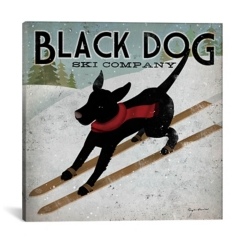 Black Dog Ski Co. Canvas Art Print