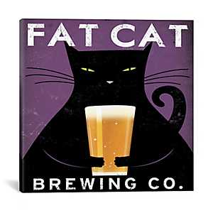 Fat Cat Brewing Company Canvas Art Print