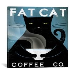 Fat Cat Coffee Company Canvas Art Print